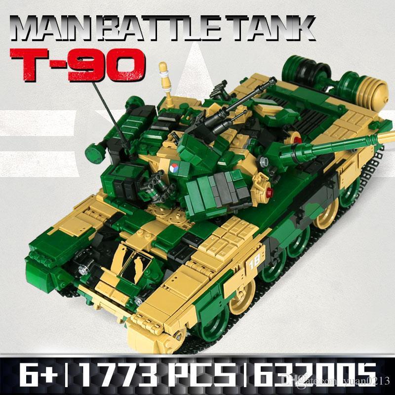 Meoa New 1773PCS 632005 Военный T-90 Главный боевой бак с Minifigure Swat Minifigure Model Наборы Строительные блоки Кирпичи Игрушки для детей подарок