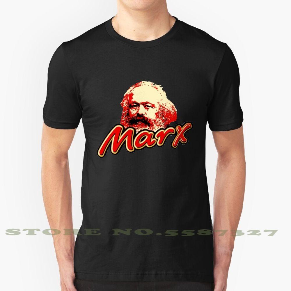 Black White Tshirt per uomo Donne Marx Pody Divertimento Coco Comunismo Urss Russia Cioccolato