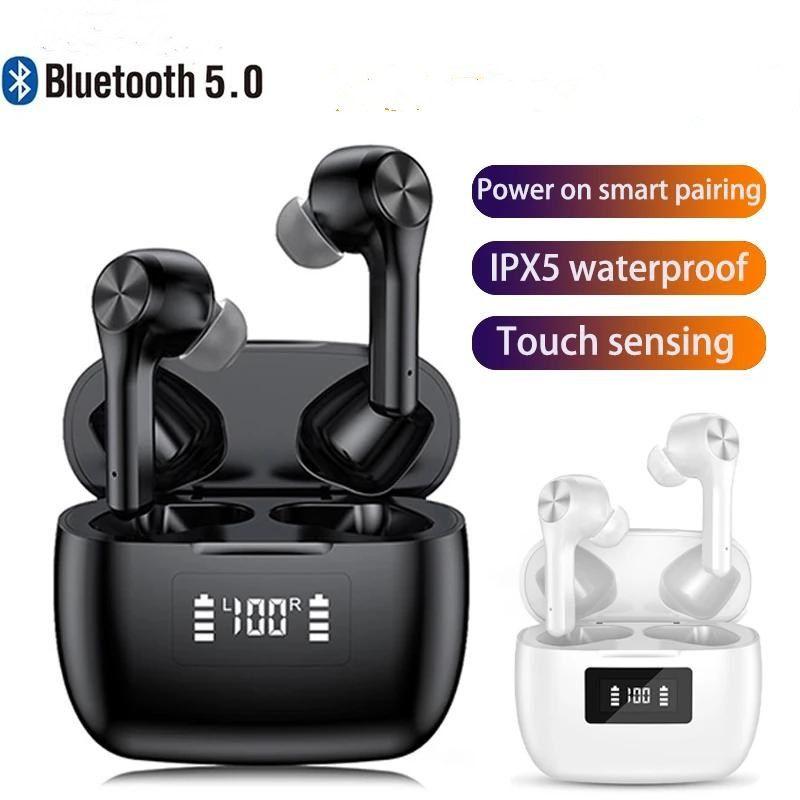 Наушники TWS Bluetooth 5.0 3D 3D Стерео Глубокие ушные наушники в ухе Smart Touch Control Водонепроницаемая спортивная гарнитура с микрофоном