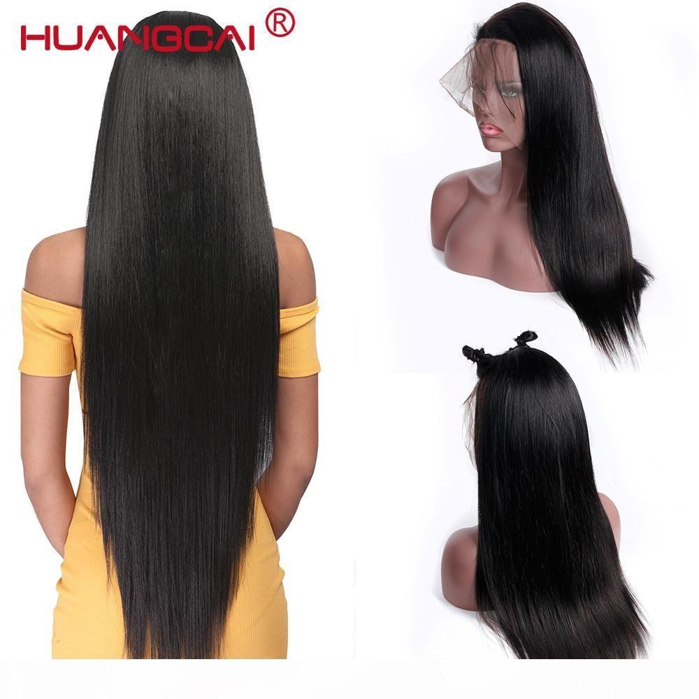 360 perruque frontale en dentelle prépurée avec des cheveux bébé 150% brésilien droit de lace de dentelle de lace de dentelle de la dentelle humaine pour femme Remy Wig