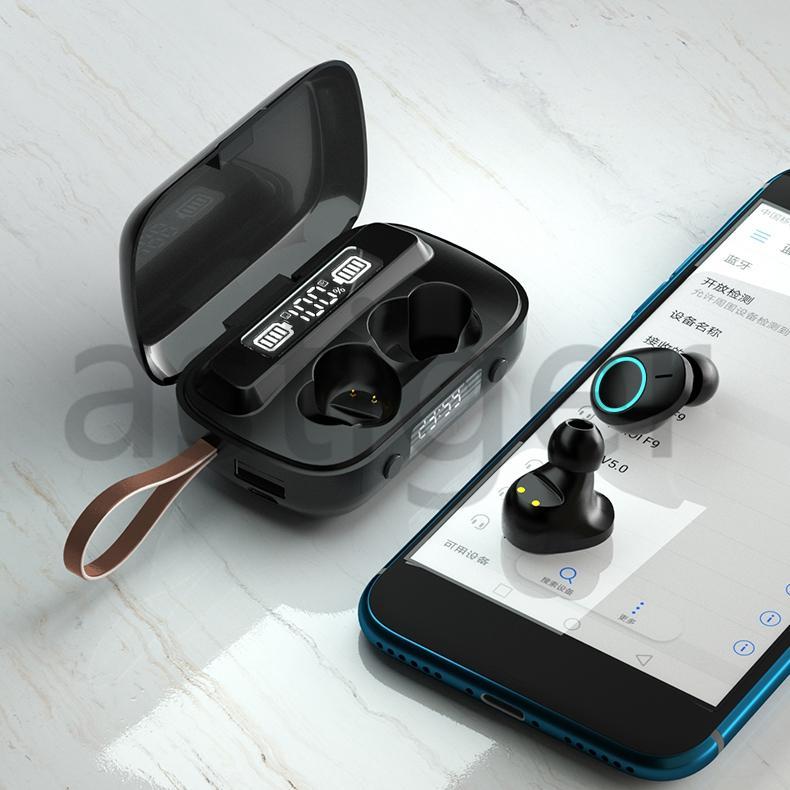 A13 مع ضوء التنفس TWS بلوتوث 5.1 سماعات لاسلكية 9D ستيريو الرياضة للماء سماعة اللمس التحكم سماعة الأذن عرض الرقمية مع التعبئة والتغليف