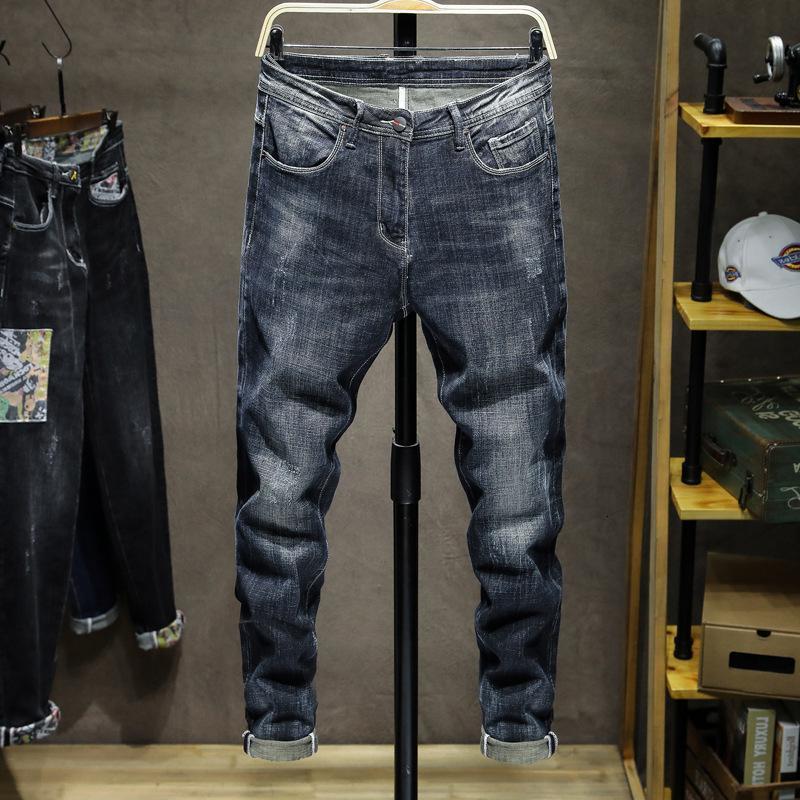 2021 가을 겨울 맞추기 Pantalones Hombre Mens 블루 청바지 새로운 도착 패션 남자 청바지 Masculino 스트레칭 비즈니스 청바지, 933