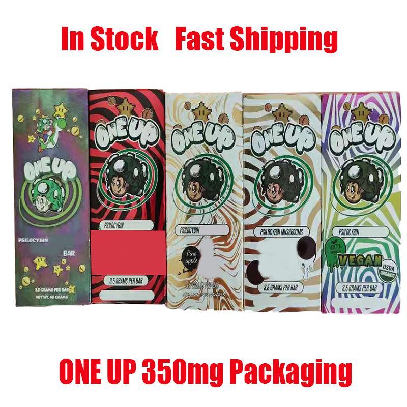 Uma caixa de embalagem 3,5g 350 mg vazia 350mg Oneup Magic Package Bag Caixas para flores de ervas secas de tabaco