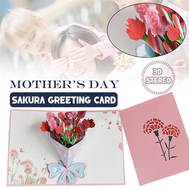 Giornata della mamma Flower card-card card card card madre Greeting per anniversario Getts Out Invitation Paper Bustes Bustes Cards