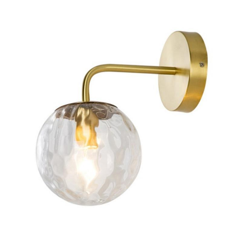 거실 장식 옆에 침실 빛 옆에 북유럽 현대 유리 공 벽 램프 홈 비품 계단 복도 조명 램프