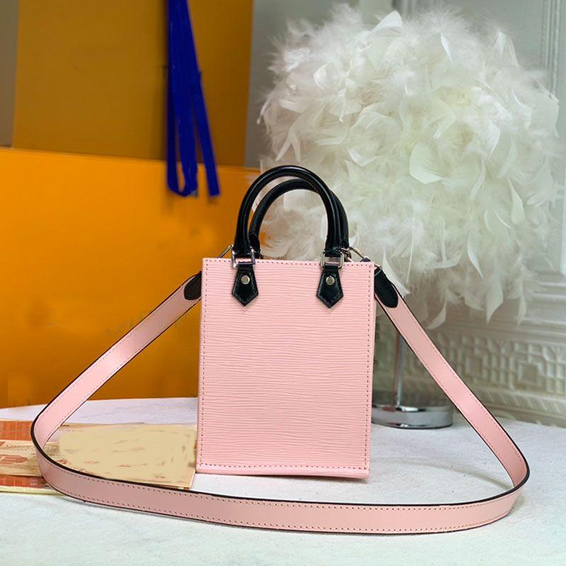 Small Handbag Women Crossbody Shoulder Bag Wave Pattern Genuine Leather Hand Bags Flat Sac Fashion Letter Lady Tote Classic Purse Wallet Multi Pochette High Quality