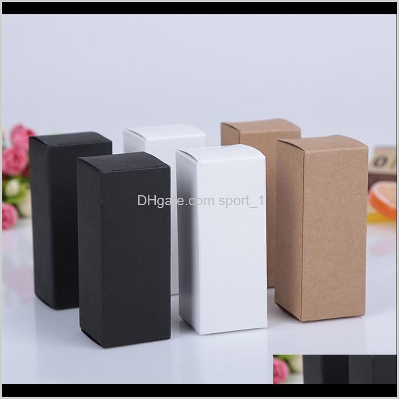 10 tamanhos preto branco kraft papel caixa de papelão batom frasco de perfume cosmético caixa de papel kraft caixa de embalagem de óleo essencial lz1416 hypq h8eco