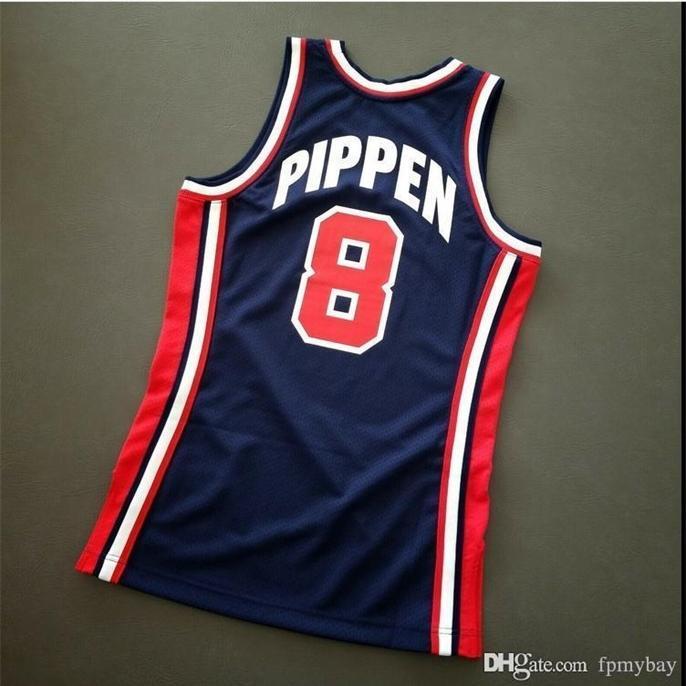 Özel Bay Gençlik Kadın Vintage Scottie Pippen Mitchell Ness 92 ABD Koleji Basketbol Forması Boyutu S-4XL veya Özel Herhangi bir isim veya numara forma