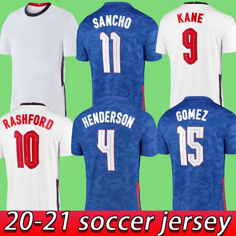 2021 2022 ENGLAND Jersey de football Home Away  jerseys Sterling Kane Rashford Sancho Mount Abraham Dele Top Qualité 20 21 Taille de chemise de football S - 4XL