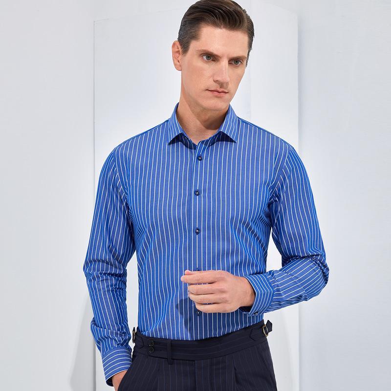 DP Pronto a indossare nessuna camicia da uomo in ferro 2021 Primavera New Business Men's 100s Otton Camicia a manica lunga