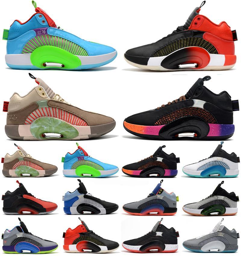 أحذية كرة السلة 35s jumpman 35 XXXV 12 SUIRODHOOD مركز الحمض النووي من الجاذبية الرياضية رجالي أعلى جودة Multicolo أحذية رياضية مقاس 7-12