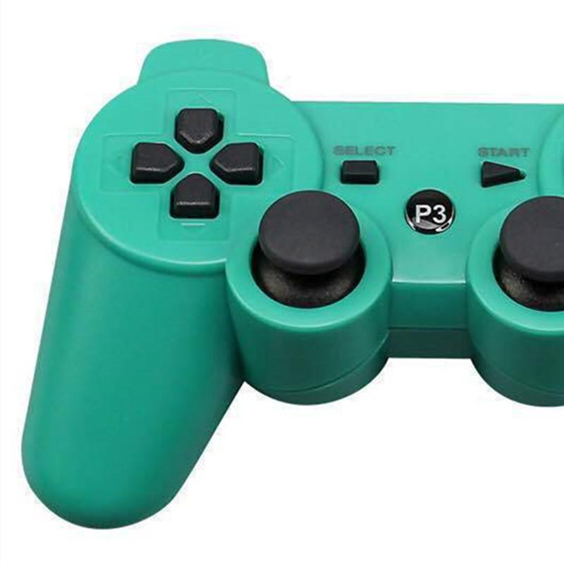 PS3 진동을위한 Dropship Dualshock 3 무선 블루투스 컨트롤러 소매 상자가있는 조이스틱 게임 패드 게임 컨트롤러