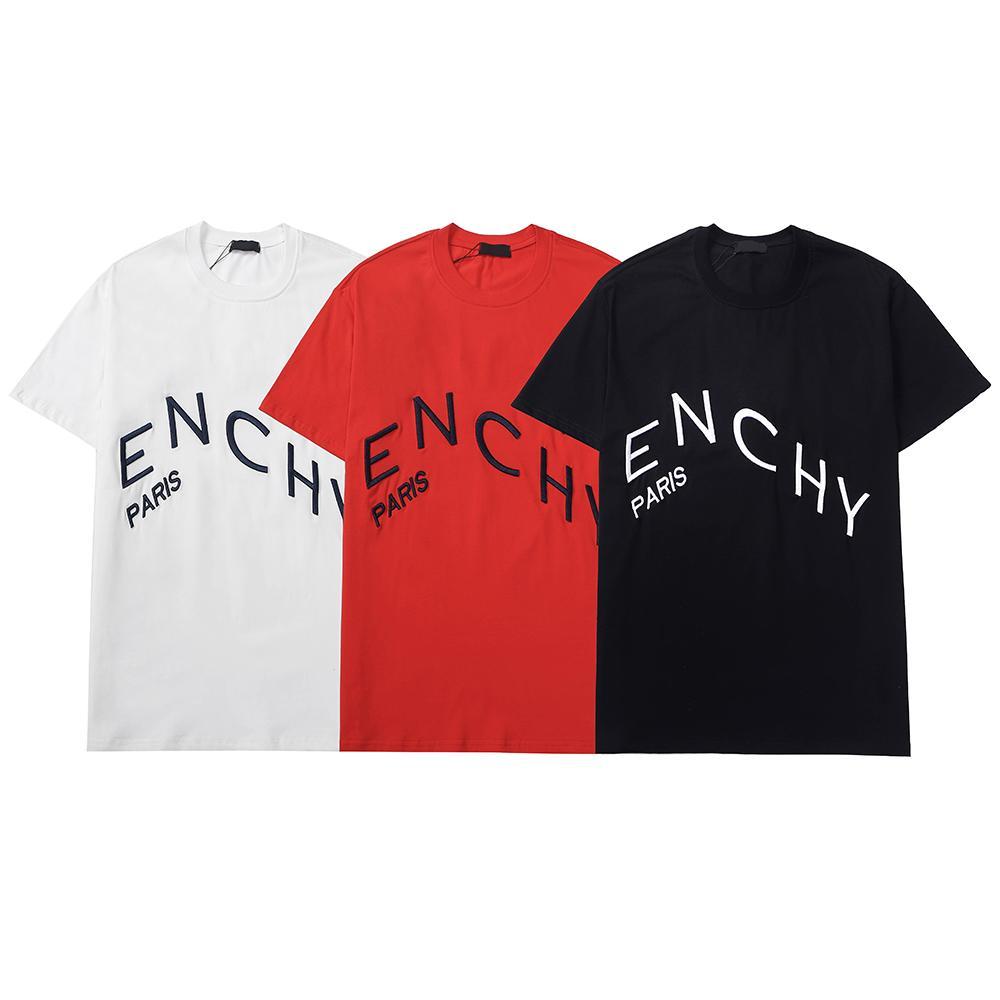 여름 남성 티셔츠 캐주얼 남자 여자 느슨한 티와 편지 인쇄 짧은 소매 패션 남자 셔츠 아시아 크기 롤