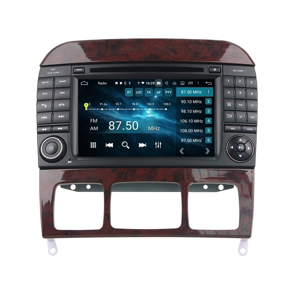 """Carplay Android 자동 DSP PX6 7 """"Android 10 자동차 DVD 라디오 GPS 네비게이션 블루투스 5.0 WiFi Mercedes-Benz S-Class W220 S280 S320 S350 S400 S430 S500 1998-2005"""