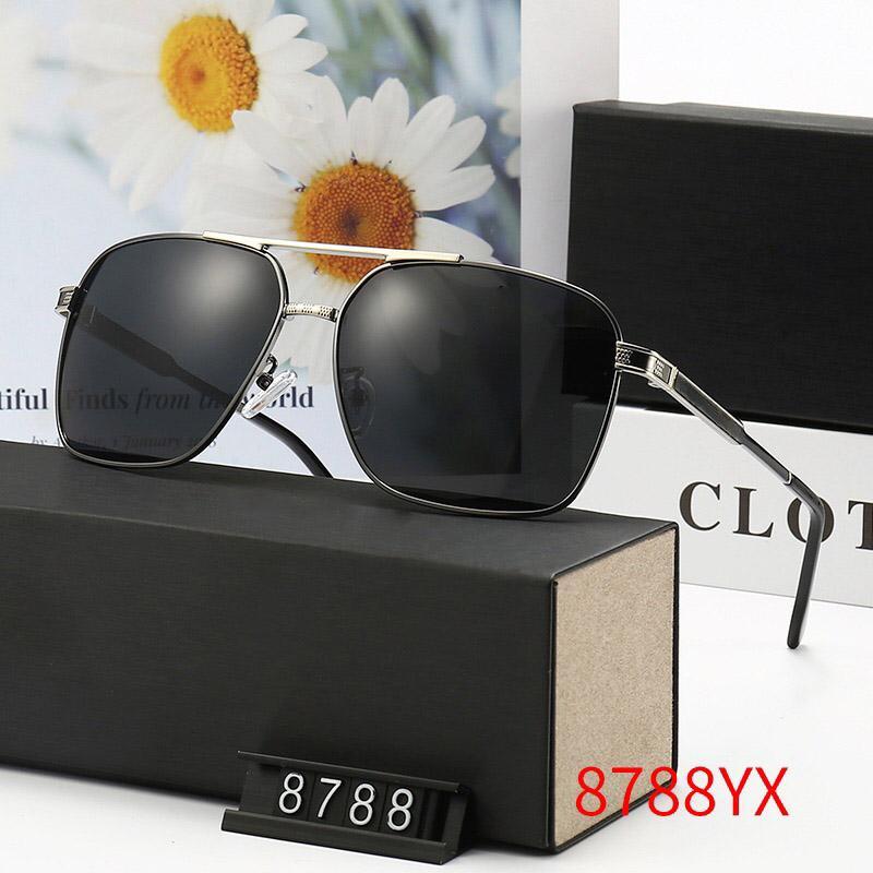 8788 جودة عالية أزياء مصمم ماركة نظارات شمسية للرجال والنساء السفر التسوق UV400 حماية الرجعية ظلال الطيار