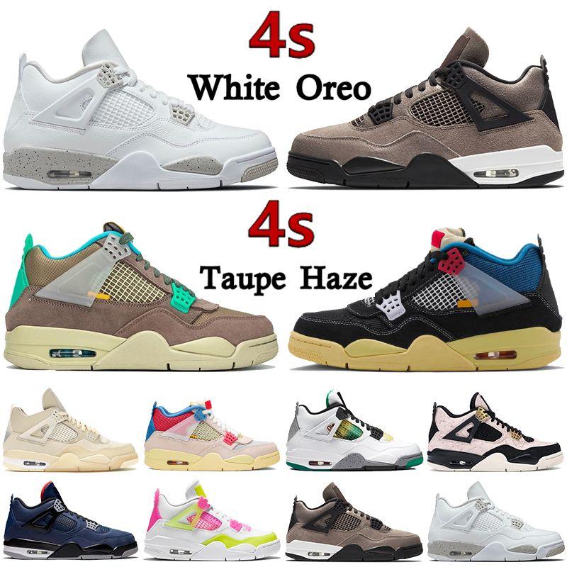 Top 4 4S Zapatos de baloncesto Blanco Oreo Oreo Oreo 30 aniversario Taupe Haze Noir Guava Ice Criado Rasta Silt Splatter Red Spillating Hombres Sneakers