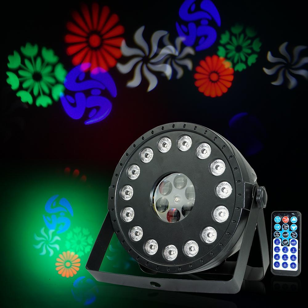 RGB 15 المصابيح + نمط جهاز العرض تأثير الضوء أدى المرحلة غسل / نمط 2in1