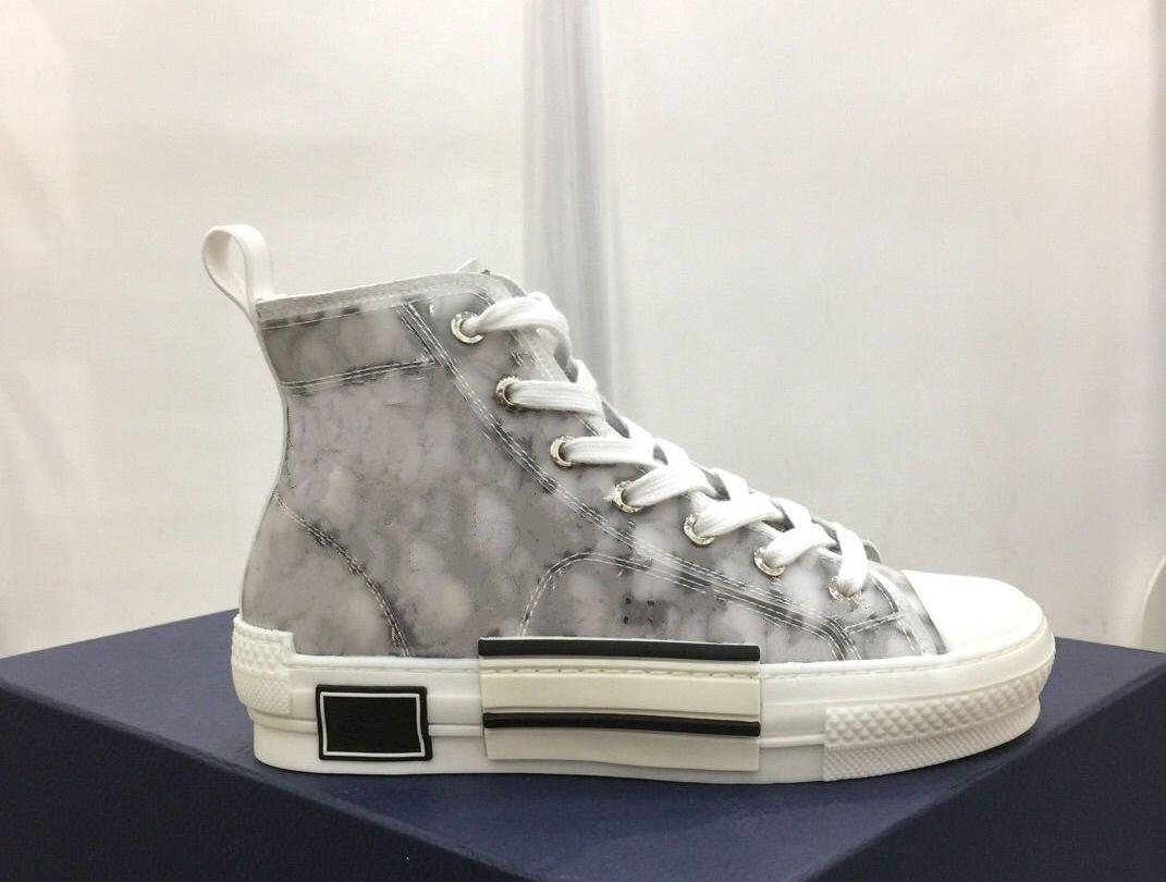 도매 아름다운 유행 B-23 캐주얼 신발 남성 여성 비스듬한 기술 캔버스 신발 크기 35-45 상자