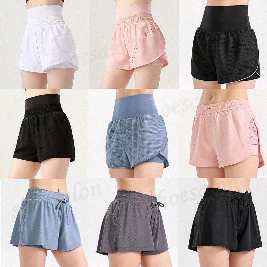 2021 Estilista de mujeres Lu Shorts Vfu Yoga Pantalones Pantalones Leggings Yogaworld Designer Mujeres Entrenamiento Fitness Conjunto de fitness Use LADIA ELASTICA MEDIA LIGHT SOLID W3JY #