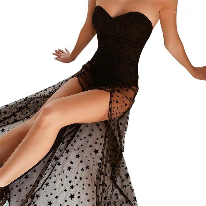 Tüp Üst Elbise Kadın Örgü Dikiş Elbise Tatil Tarzı Yaz Bayan Etek Seksi Bayanlar