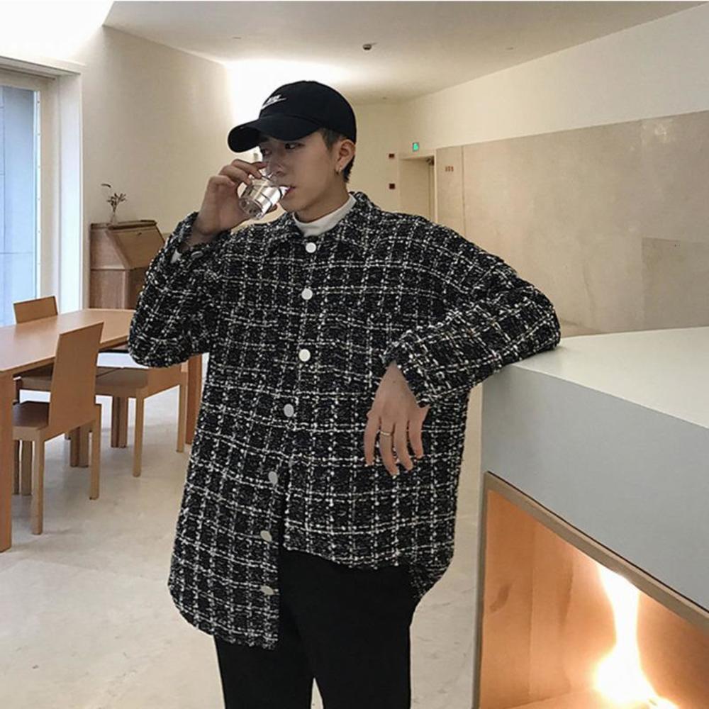 2021 мужская сгущая плед печатает гавайская рубашка Camisa Masculina Streetwear мода с длинными рукавами Французская манжета рубашки размером M-XL