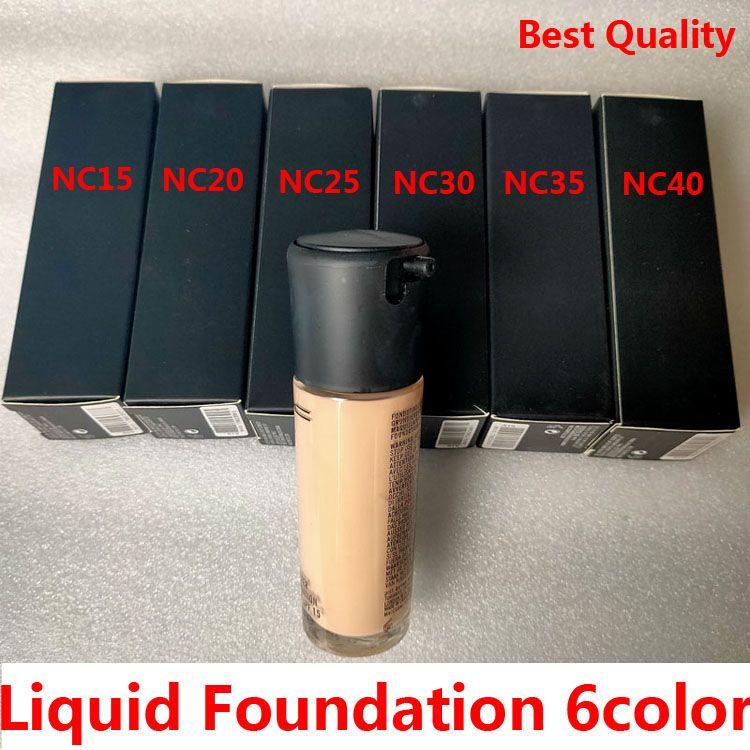Brand Liquid Foundation 6COLOR SPF15 NC15 NC20 NC25 NC30 NC35 NC40 35ML Concealer Breaken