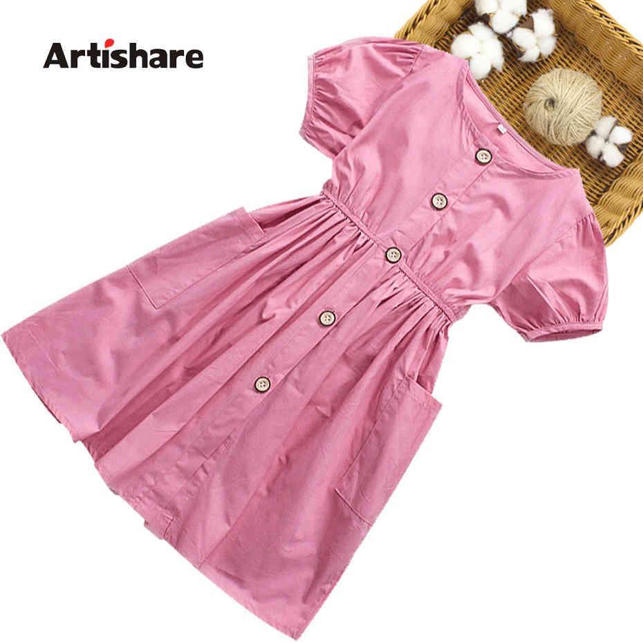 ES Casual Style Girls'Party Verano Vestido de verano Efectos Color Tostes para niños para niñas 6 8 10 12