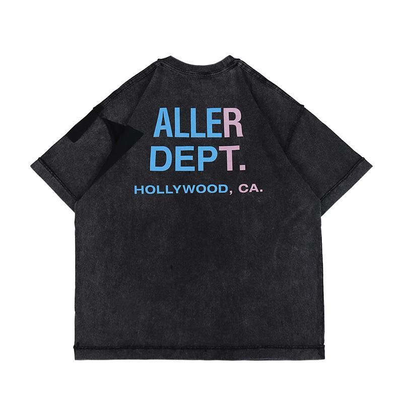 2021 Europe USA Hollywood Pocket Pocket Dept Hip Hop Tee Skateboard Hommes T-shirt Femmes Streetwear Streetwear Streetwear surdimenseur Tshirt
