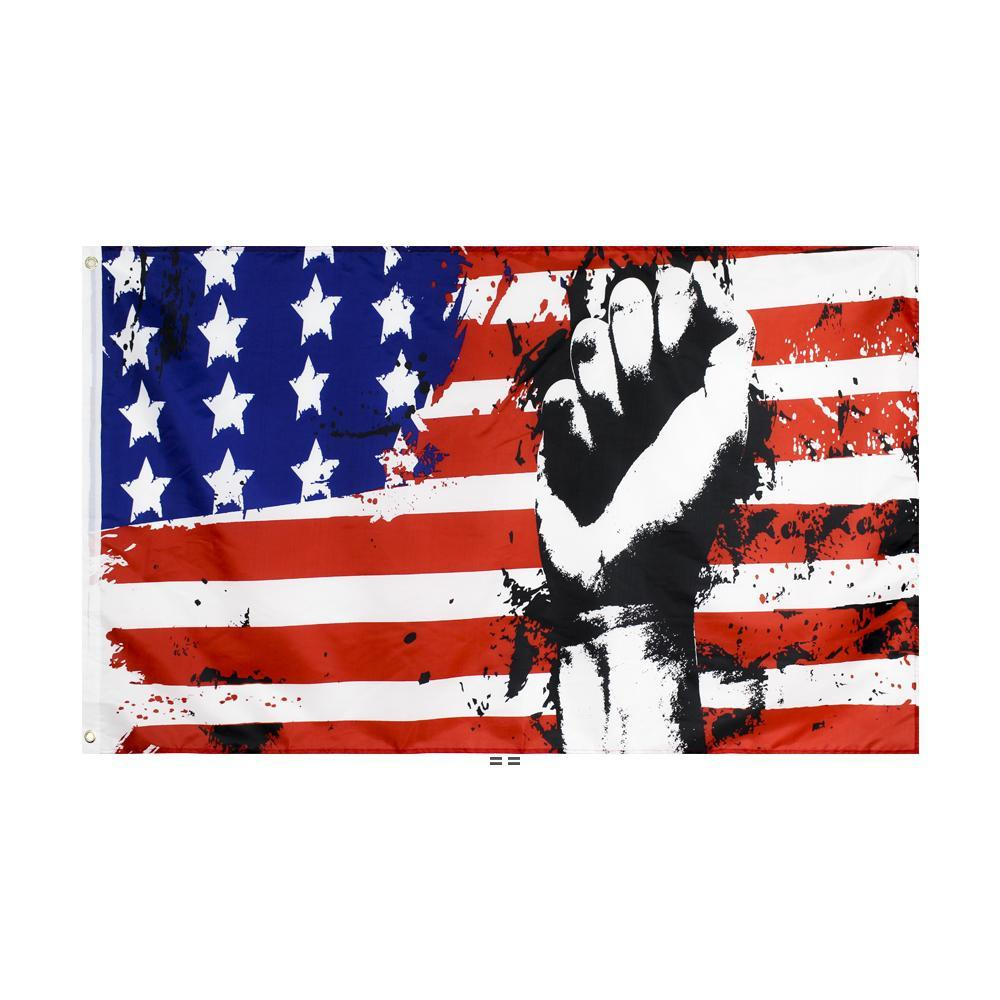 تأتي على العلم الأمريكي بالجملة freeshipping الأسهم المباشر مصنع شنقا 90x150 سنتيمتر 3x5ft HHD10707