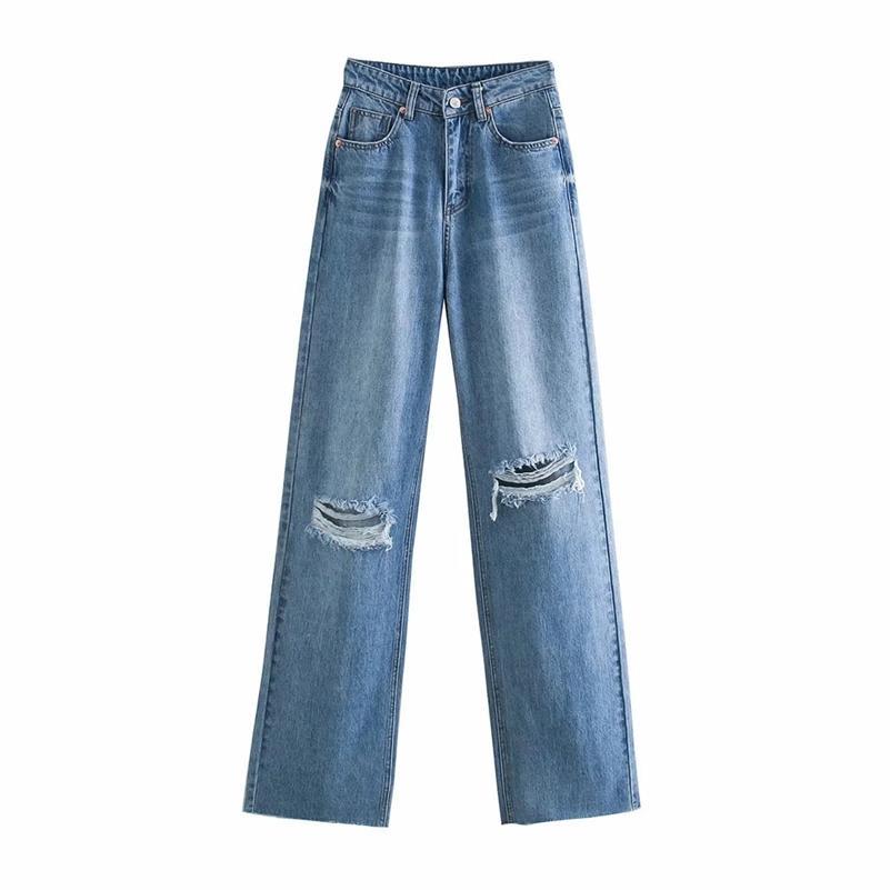 BBWM Jeans Jeans Vita alta Vestiti Denim Abbigliamento Blu Streetwear Vintage Quality Fashion Foro Harajuku Pantaloni dritti 210621