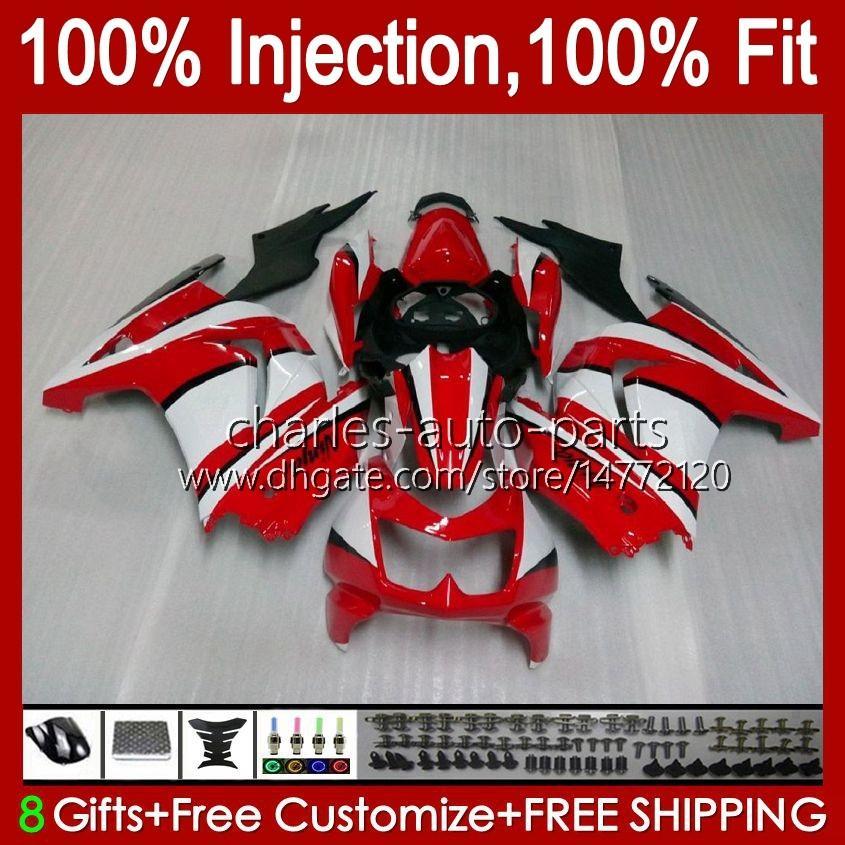 Инъекция для Kawasaki Ninja ZX250R Красный белый BLK EX250 2008 2009 2010 2011 2012 13HC.21 EX250R ZX-250R ZX250 ZX 250R 08 09 10 11 12 Обсуждение