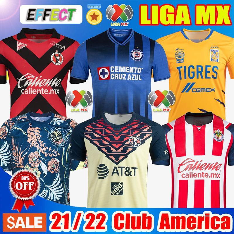 Neu 20 21 Club America Soccer Jerseys Fußballtrikots 2020 2021 Mexiko Clubtrikot Xolos de Tijuana Tigres UNAM Guadalajara Chivas Home Away Third Trikot Fußballtrikots