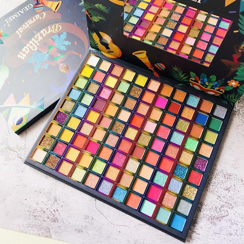 Ombre à oeil 99 couleurs Brésil Palette Matte paillettes de scène paillettes à paupières pigmentées poudre pressée