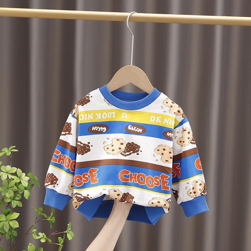 Toddler Baby Hoodie Girls Fashion Felpe per bambini Ragazzi a maniche lunghe Cartoon bambini Carino T Shirt Capispalla