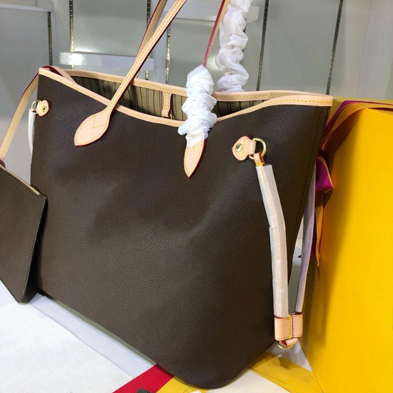 المصممين الفضلات الزهور اليد التسوق حقائب crossbody المرأة بو الجلود حقائب + محفظة صغيرة 2 قطع مجموعة حقيبة الكتف حقيبة الظهر M40157