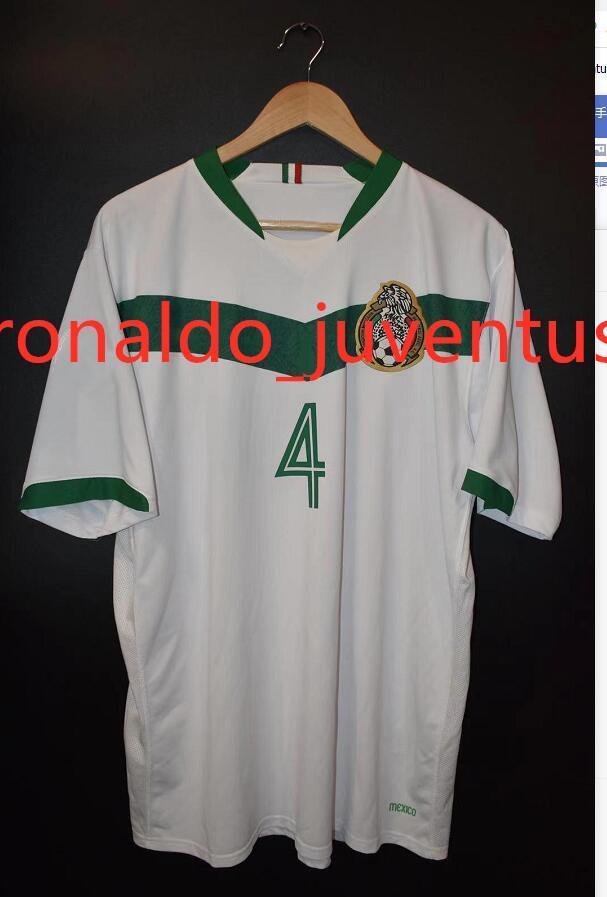 México 2006 Alejado Jersey 1986 1994 1995 1998 Jerseys de fútbol retro Blanco Hernández Ramirez Sanchez 86 98 Vintage Football Camisetas Classic S