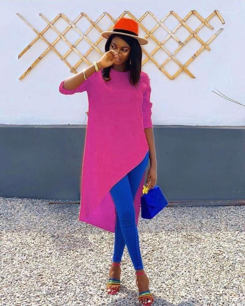 Colore Casual Abbigliamento Abbigliamento Donne Autumn Designer Swallowtail Tshiwn Castelli Crew Neck Manica lunga Moda stile Abbigliamento femminile Abbigliamento Solido