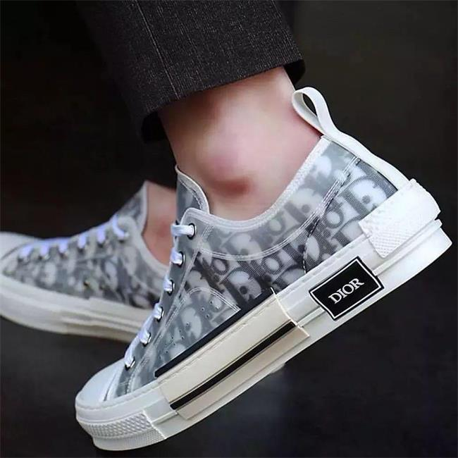 19SS Dior Designers Oblique B23 KAWS Decorat Hommes Chaussures Low High Top Sneakers Slides Kanye West Fashion Women Men Casual Shoes