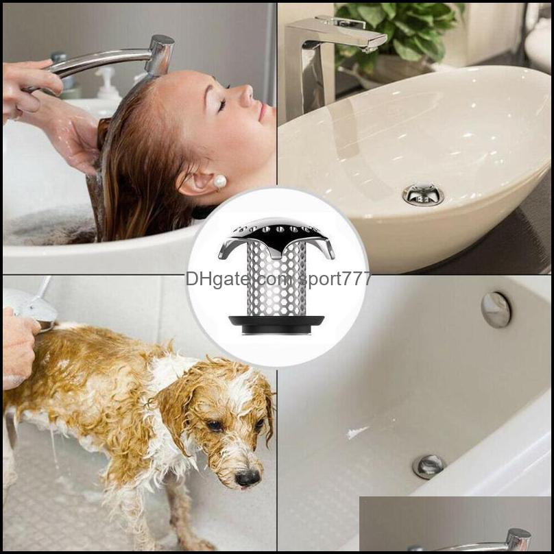 Kitchen Faucets, Showers As Home & Gardenkitchen Faucets Bath Tub Floor Drain Stopper With 4 Rubbers Steel Protector Strainer Tool Hair Catc