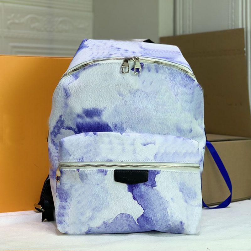 Sac à dos sac de voyage école sac à dos patchwork eau aquarelle peinture de fleurs de fleurs de fleurs de design classiques en cuir réglable bandoulière double fermeture éclair