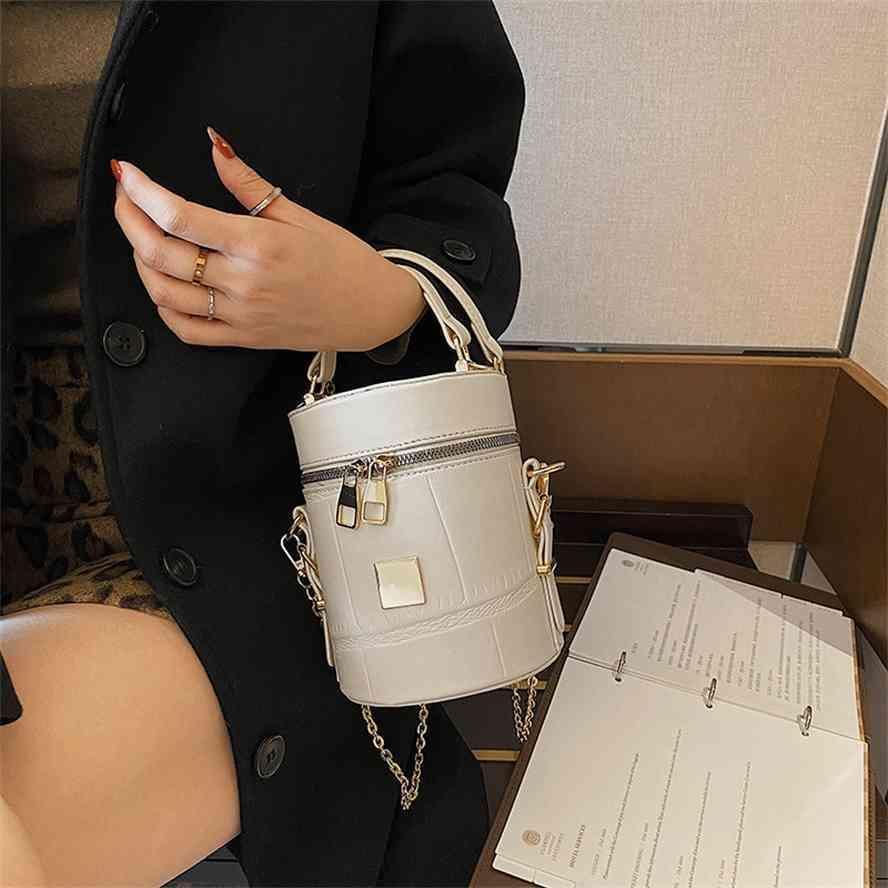 Balde de temperamento elegante feminino coreano 2021 inverno moda menina um ombro mensageiro