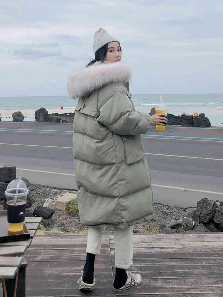 Abbigliamento femminile Giacca invernale Donne 2021 Long Hooded Addensare Addensare Warm Down Cotton Donne Cappotto Donna Parka Vetement Femme ZJT23