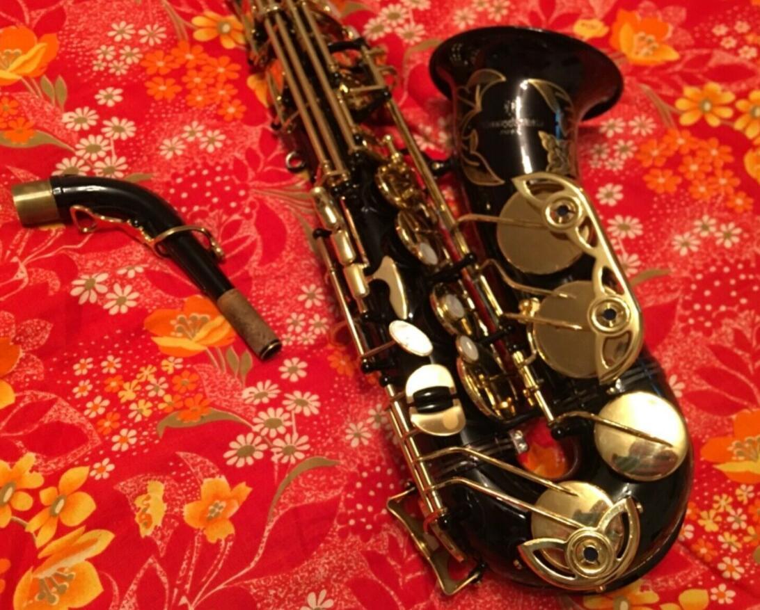 Yanagisawa Alto Saxophone A-991 أسود الذهب ورنيش سيكس المهنية لسان حال بقع منصات القصب الانحناء الرقبة