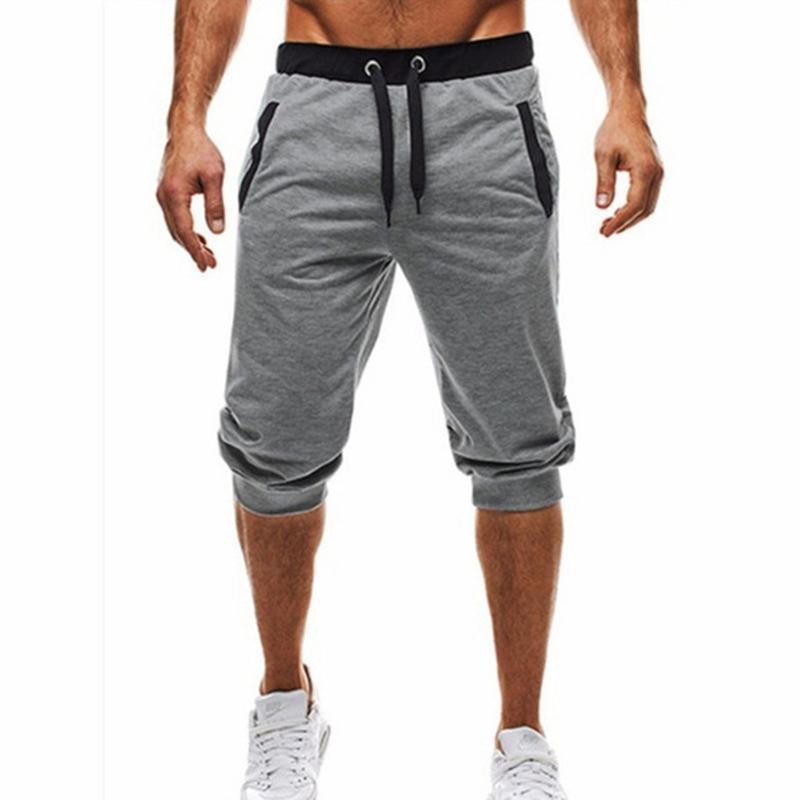 Shorts masculinos 2021 verão casual algodão estilo de moda bermuda masculino cordão elástica cintura calça beach curto