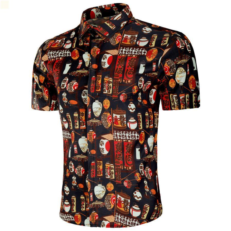 Erkek mahsul üst moda camisas de hombre yüksek kaliteli tasarımcılar erkek polo gömlek yaka vintage giysi 2021 düğme up lüks elbise kısa kollu yaz 9G095