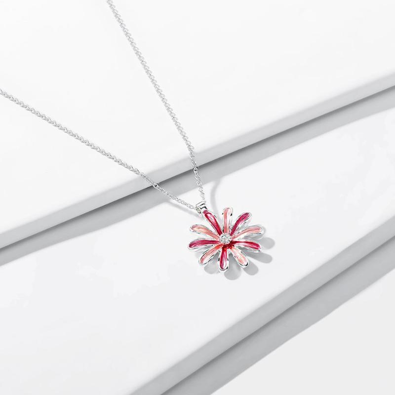 Diseño original margarita colgantes y collares moda plateado color cadenas gargantilla collar de flores para mujeres regalos regalos
