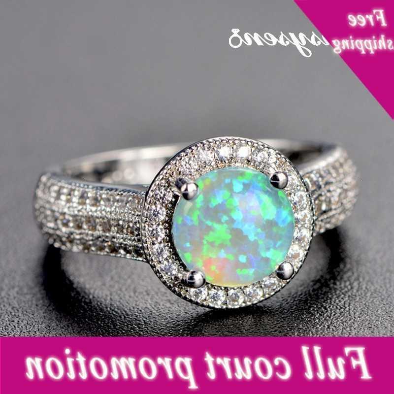 Pansysen En Kaliteli Gerçek Yangın Mistik Opal Yüzük Kadınlar Için 925 Ayar Gümüş Yüzük Bruiloft Marka Takı Toptan