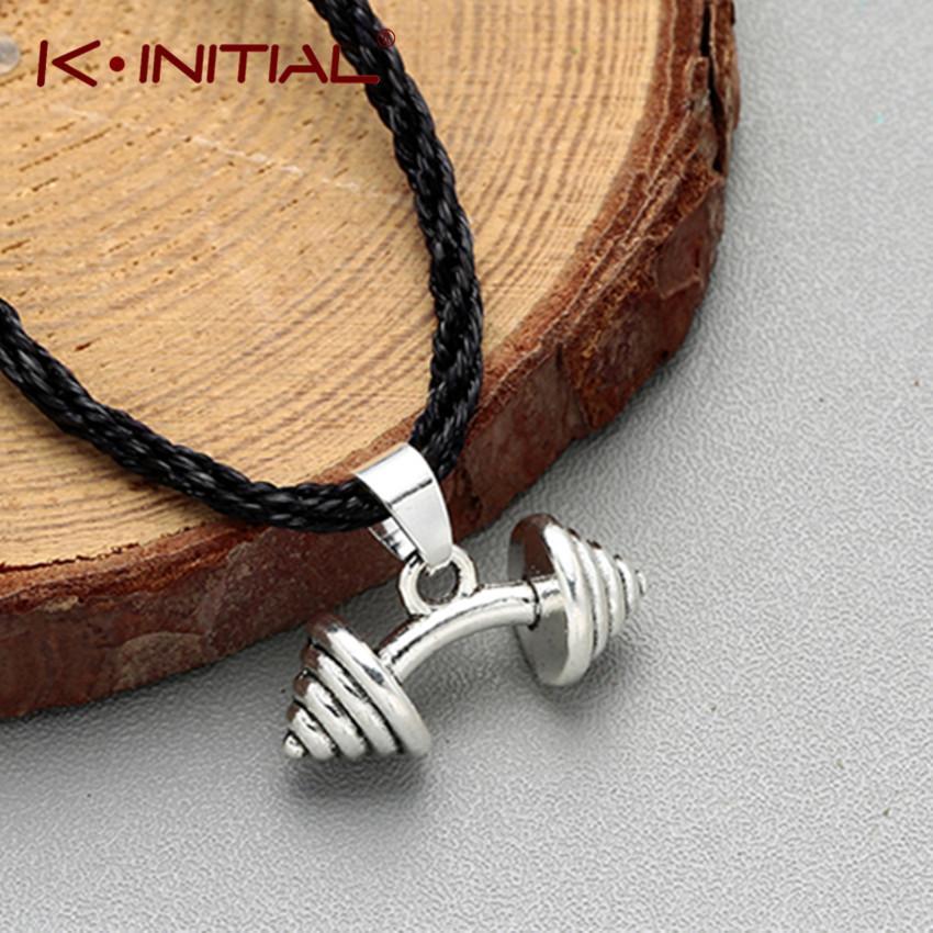 قلادة كينيتال سحر لياقة رياضة كمال الاجسام الدمبل الحديد قلادة القلائد للرجال النساء الرياضة الأزياء حبل المختنق المجوهرات