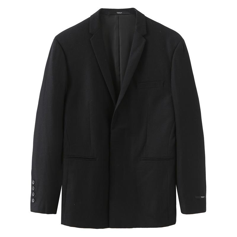Black Men's Ropa Otoño, Blazer Invierno Negocio Casual Wool One Western Woolen Coat Fashion City 164