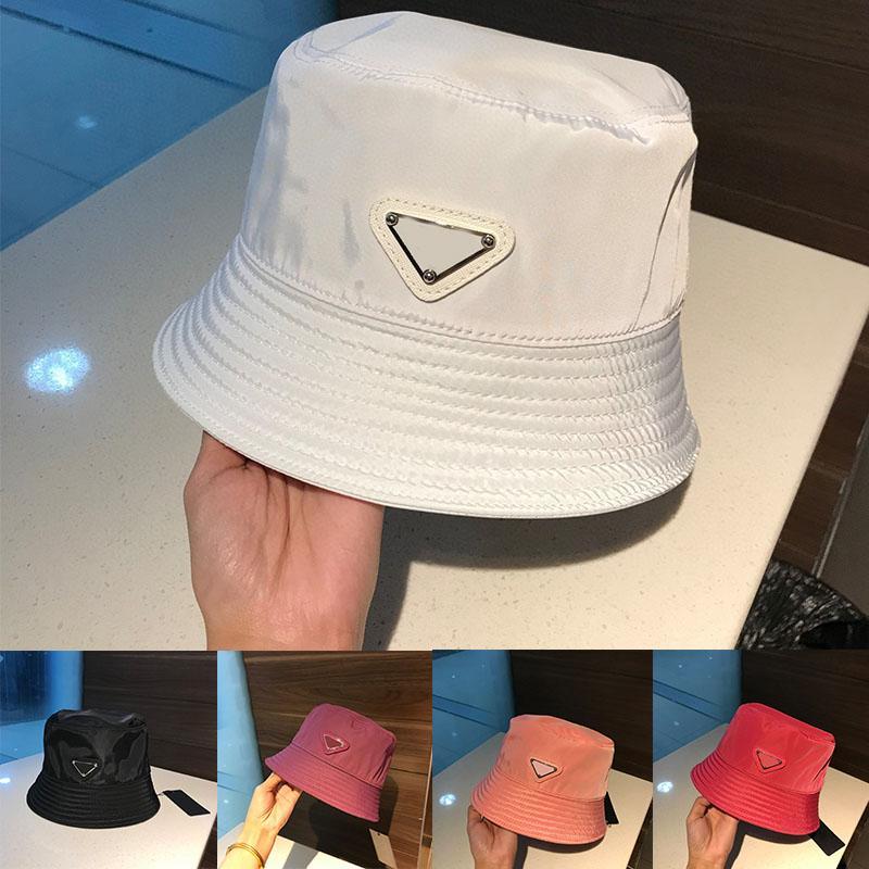Party Hats Big Original Single Triangle Logo Blanco Nylon Tendencia Sol salvaje Sol Hat Hat Pescador Plazo Tapera